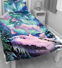 THE AURORA UNICORN - Duvet Cover Single Bed Set by David Penfound - Fantasy,