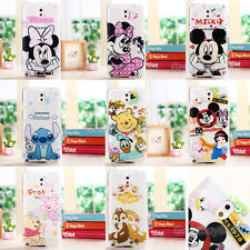 Ultra Thin Cartoon Soft TPU Crystal Clear Case Cover for Samsung Galaxy Note 3 4