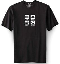 """NEW MEN'S PRINTED """"EAT SLEEP RAVE REPEAT"""" MMA TEE FUNNY COTTON T-SHIRT ALL SIZE"""