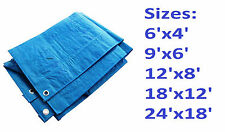 TARPAULIN TARP HEAVY DUTY WATERPROOF CAMPING GROUND SHEET DIFFERENT SIZES NEW
