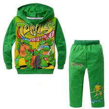 Kids Baby Cartoon Tops Set Teenage Mutant Ninja Turtles Boys Hooded Clothes 2-7Y