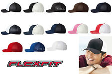 Yupoong Flexfit Trucker Cap 6511 Fitted Mesh Baseball Hat NEW 13 Colors One Size