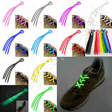 Color X-Tie Soft Silicone Lazy Shoelaces Shoe Lace Cable Ties Running Sport LOT