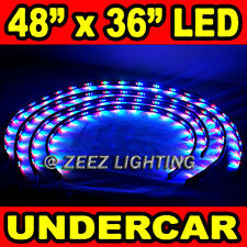 LED Neon Strip Under Car Body Glow Light Tube Undercar Underbody Underglow Kit