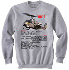 COBRA HUEY HELICOPTER -  NEW GRAPHIC SWEATSHIRT- S-M-L-XL-XXL