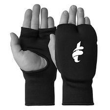 Elasticated Training Karate Mitt Boxing Mitts Fist Punching Gloves, Black