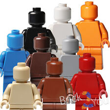 Lego Plain Minifigures White Gray Red Reddiish Brown Black Tan Blue Orange