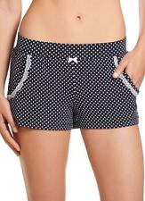 Jockey Ladies Loungewear Shorts Sizes S to 2XL Navy Blue Polka Dot with Lace Tri