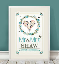 Personalised Wedding / Engagement / anniversary gift / present for bride & groom