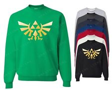 The Legend Of Zelda Crewneck Triforce logo sweatshirt Nintendo Gamer Video game