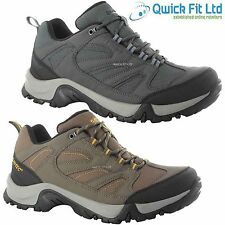 MENS HI TEC PIONEER LEATHER WALKING HIKING WATERPROOF TRAINERS BOOTS SHOES SIZE