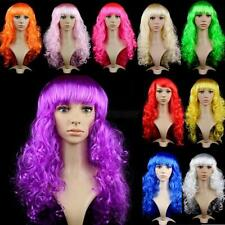 Womens Ladies Long Curly Wavy Hair Synthetic Anime Cosplay Party Full Wigs D77