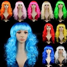 Fashion Womens Long Curly Wavy Hair Synthetic Anime Cosplay Wig Full Wigs D41