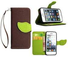 Luxury Fashion Leather Card Flip Wallet Case Stand Cover Pouch For Apple iPhone