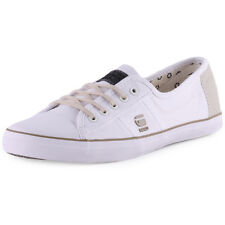 G-Star Dash IV Tanuki II Womens Canvas White Trainers New Shoes All Sizes