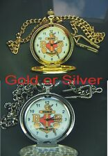 Boys Brigade Pocket Watch With Chain Gold Or Silver Colour Personal Engraving 3