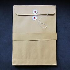 New Brown Kraft Paper with String-Tie Closure Envelopes Mailer Packing Bags