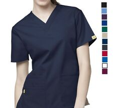Wonder Wink Origins Bravo 6016 V Neck Scrub Top Choose Color NWT