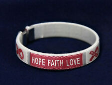 Sickle Cell Anemia Awareness Bangle Bracelets (Adult)