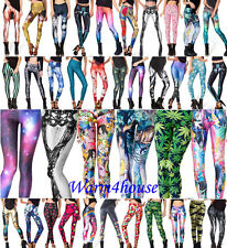 Women Sexy Graphic Colourful Print Women Stretchy Leggings Pant Yoga Gym Funky