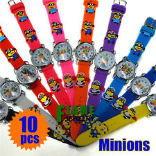 Free Shipping 10pcs/lot Color Minions Children Watch 3D Watch Cartoon Watch Gift