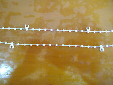 WHITE VERTICAL BLIND BOTTOM LINK CHAIN 89,100,127mm VARIOUS AMOUNT AVAILABLE