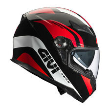 GIVI CASCO INTEGRALE FULL FACE SNIPER 50.4 PISTA NERO MOTO SCOOTER HELMET BLACK