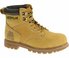 CAT Catapillar Mens Second Shift Work Boots Steel TOE