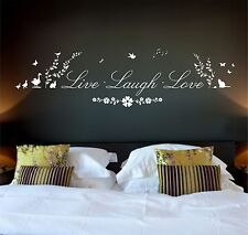 Live Laugh love Quote, Nature, Wall Art Stickers Decal Murals, Bedroom, Lounge