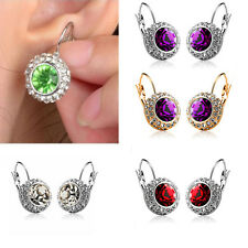 Women Fashion Rhinestone Crystal Dangle Earrings Ear Hook Stud Jewellery