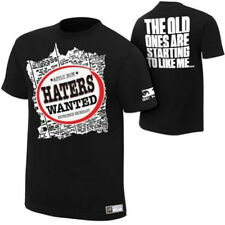 WWE AUTHENTIC The Miz Haters Wanted Mens Black T-shirt - BRAND NEW