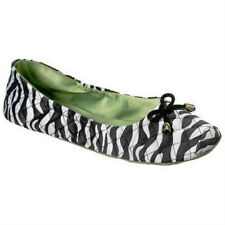 NEW Dearfoams S, M or L Ballerina ZEBRA Print House SHOES Dorm SLIPPERS In / Out