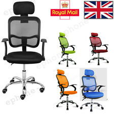 Adjustable Executive Office Chair Computer Desk Chair Mesh Seat Fabric Furniture