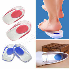 Heel Support soft Pad Gel Silicone Shock absorb Cushion protection Cup Spur LOT