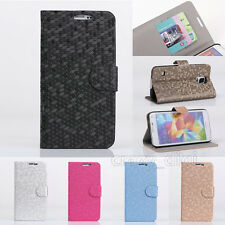 Luxury Filp Wallet PU Leather Stand Flip Case Card Cover Skin For Samsung Galaxy