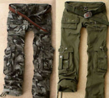 2015 Women's Army Green Camo Cargo Pocket Pants Leisure Outdoor Trousers Clothes
