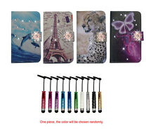 For HTC Nokia bling diamond Wallet Magnetic flip Leather case cover + stylus