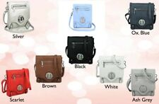 Quality Ladies Small Square messenger crossbody handbag Front outer zip pocket