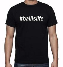NEW MENS PRINTED #Ball Is Life Funny ballislife T-SHIRT MMA Baseball Dope Sports