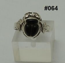 "Hall Marked Egyptian Pharaonic Silver Rings "" Scarab,Ankh,Eye of Horus,Lotus """