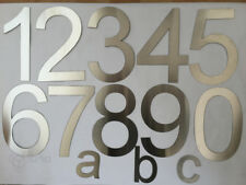 House Number / Numeral  Brushed Stainless Steel Numbers and abc - selection
