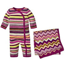 NEW!Authentic Missoni Infant knit Baby Jumper Unionsuit Sleeper Rose Shower GIFT
