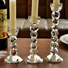 Elegant Crystal Candle Holder Candlestick Pillar Holder 22mm Candle Decoration
