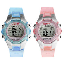 New Arrival Digital LED Waterproof Girls Women Ladies Rubber Band Wristwatch TOP