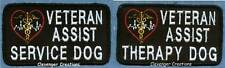VETERAN ASSIST therapy dog or service dog vest patch