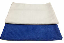 """24 Microfiber Waffle Weave 16""""x24"""" Cleaning/Dusting/Polishing Towels 300GSM"""