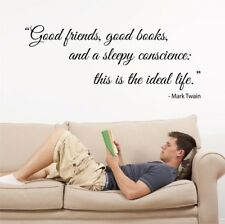 THE IDEAL LIFE mark Twain quote wall decal living room wall sticker