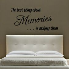 BEST THING ABOUT MEMORIES wall sticker quote living room lounge decals