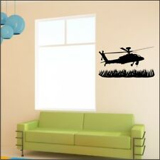 APACHE HELICOPTER army military wall sticker bedroom graphic art decal