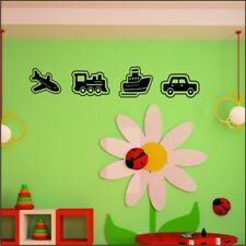 PLANE TRAIN BOAT CAR childrens bedroom wall stickers decals transer sticker